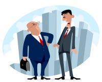 Due uomini d'affari nel viaggio di affari Immagini Stock Libere da Diritti