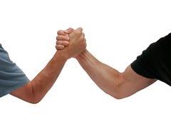 Due uomini delle mani che lottano Fotografia Stock Libera da Diritti