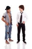 Due uomini di origine etnica differente Immagini Stock
