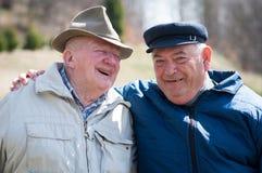 Due uomini senior fotografia stock