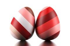 Due uova di Pasqua Immagini Stock Libere da Diritti