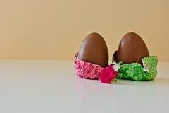 Due uova di Pasqua del cioccolato Fotografia Stock Libera da Diritti