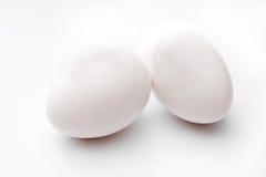 Due uova fresche Fotografia Stock