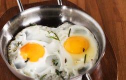 Due uova fritte Fotografia Stock