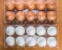Due uova imballate Fotografia Stock Libera da Diritti