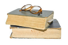 Due vecchi libri. Fotografie Stock