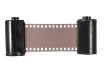 Due vecchi vassoi con la pellicola fotografica Fotografia Stock