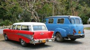Due vecchie automobili americane Fotografie Stock