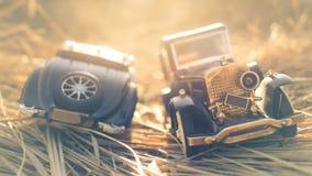 Due vecchie automobili dell'annata Fotografia Stock