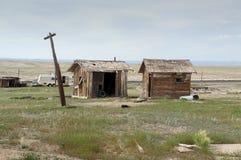 Due vecchie baracche fotografie stock libere da diritti