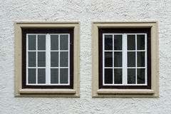 Due vecchie finestre Immagini Stock Libere da Diritti