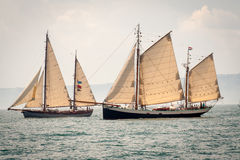 Due vecchie navi fotografia stock libera da diritti