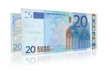 Due venti euro note fotografia stock