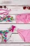 Due vestiti di nuoto moderni fotografia stock libera da diritti