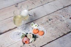 Due vetri con champagne Immagini Stock Libere da Diritti
