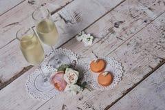 Due vetri con champagne Immagini Stock