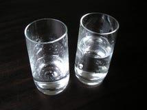 Due vetri con il brandy della prugna Fotografia Stock Libera da Diritti