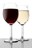 Due vetri con vino Fotografia Stock