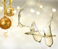 Due vetri del champagne Immagine Stock