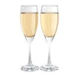 Due vetri del champagne Fotografie Stock Libere da Diritti