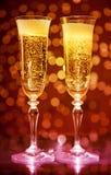 Due vetri del champagne Fotografia Stock Libera da Diritti