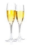 Due vetri del champagne Fotografia Stock
