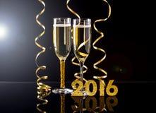Due vetri del champagne Immagine Stock Libera da Diritti
