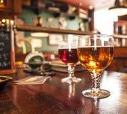 Due vetri della birra alla spina Immagine Stock Libera da Diritti