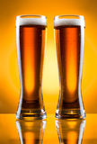 Due vetri di birra Fotografie Stock Libere da Diritti