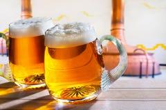 Due vetri di birra Fotografia Stock Libera da Diritti
