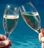 Due vetri di Champagne Immagini Stock