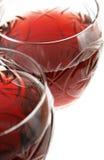 Due vetri di vino Fotografie Stock