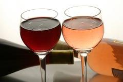 Due vetri di vino Immagine Stock
