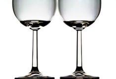 Due vetri di vino fotografia stock