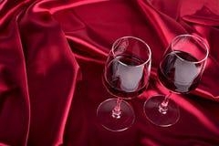 Due vetri di vino Immagini Stock Libere da Diritti