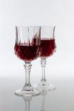 Due vetri di vino Immagine Stock Libera da Diritti