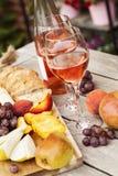 Due vetri di vino rosato Fotografia Stock Libera da Diritti