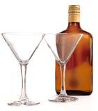 Due vetri per i cocktail fotografia stock