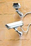 Due videocamere di sicurezza del CCTV. Fotografia Stock Libera da Diritti
