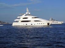 Due yacht Fotografie Stock