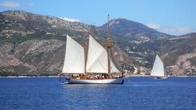 Due yacht a Beaulieu Fotografia Stock Libera da Diritti