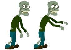 Due zombie in modo divertente illustrazione vettoriale