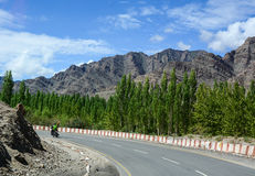 Dużej wysokości Manali-Leh droga Zdjęcia Royalty Free