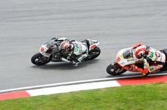 Duel 2009 de classe de MotoGP 250cc pour le champion du monde Photo stock