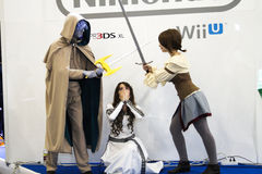 Duel avec les épées Photos libres de droits