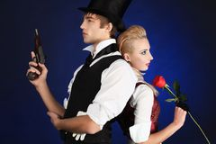 Duel d'amour Photographie stock libre de droits