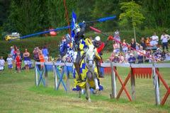 Duel de chevaliers Image stock
