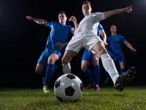 Duel de footballeurs photos libres de droits