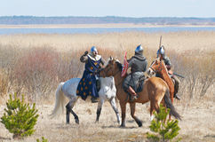 Duel of horse knights Royalty Free Stock Photos