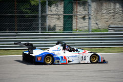 Duel Race Sports Prototype. Cosimo Papi brings a Wolf Sports Prototype on track at the Monza Circuit Stock Photos